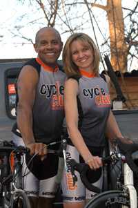 Jim & Lori King, co-founders Cycle Club Kingston